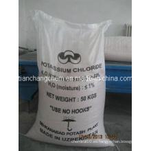 Fertilizante de potasa Cloruro de potasio granular (Kcl 60%)