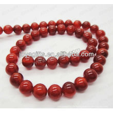 Perles rondes en agate rouge / 4mm / 6mm / 8mm / 10 / mm / 12mm grade A
