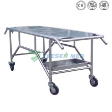 Yuesenmed Stainless Steel Mortuary Morgue Stretcher