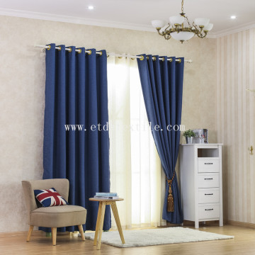 Linen like blackout curtain