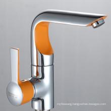Professional Single Handle Colourful Wash Basin Faucet