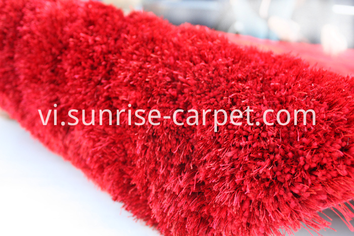 Polyester two yarn mixed Shaggy Rug with 3D design