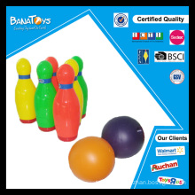 Funny sport toy for kid colorful plastic bowling pin