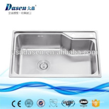 DS7345 Modern Kitchen Designs Stainless Steel Corner Granite Vessel Sink