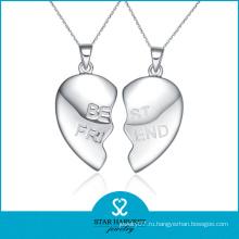Мода дружбы 925 Серебряный сердце кулон Оптовая (SH-N0260)