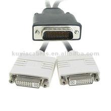 Männlich 59 Pin DMS-59 auf weiblich 24 + 5P Dual DVI Splitter Kabel