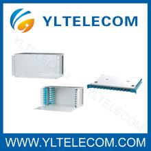19 Inch 4U 96 Core Sliding Fiber Optic Patch Panel ODF Fixed Type