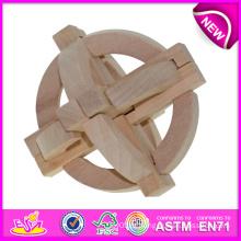 Brinquedo novo e popular da inteligência de madeira para crianças, brinquedo de madeira Brinquedo da inteligência para crianças, brinquedo de madeira do qi para bebê W03b018