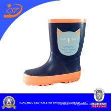 Bottes de pluie chat bleu foncé Lovely Kids Kr041