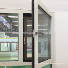 Latest design two window sashes the main window tilt and swung inwards with 304 stainless steel screen and concealed hinges
