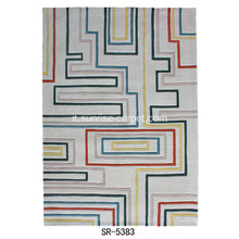 Moquette in Tufted Mano con Design Geometrico