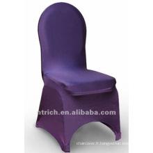 couverture de chaise de banquet, couverture de chaise de lycra, CTS806 pourpre, adapté pour toutes les chaises