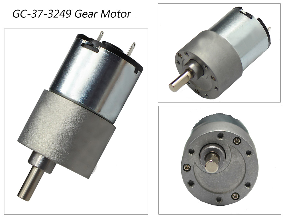 China 12v 24v Low Rpm Dc Gear Motor Manufacturers
