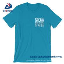 Fabrik-Großhandelspreis-Qualitäts-Baumwollgewohnheit T-Shirt für Mann