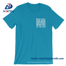 Fábrica de Preços de Atacado de Alta Qualidade de Algodão T-shirt Personalizado para Homem