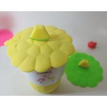 Tapa ecológica de la taza del silicón del precio directo de la alta calidad para las tazas de la taza