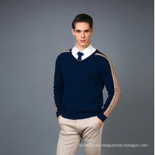 Suéter de la mezcla de la cachemira de la manera de los hombres 17brpv070