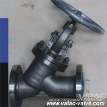 Bolted Bonnet Forged Steel Y Pattern Globe Valve