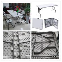 6ft im Freienqualitäts-fördernder Großverkauf-preiswerter HDPE Plastikbankett-Gaststätte-Gaststätte-Picknick-kampierendes Barbecue-Falten in halber rechteckiger Tabelle (HQ-Z180)