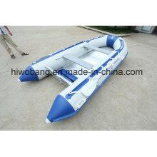 Barco de pesca inflável 4,2 m PVC feito em Weihai