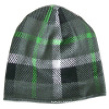 Knitted Beanie with Checker Design NTD60