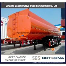 Capacidad del tanque de 4 ejes 55000L a 72000L Semirremolque de acero del petrolero del tanque