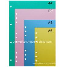 0,4 мм Цветные разделители файлов ПВХ Разделители картонных карт без бликов