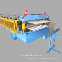 Máquina de moldagem de rolo de painel de telhado de camada dupla, máquina de moldagem de parede de dupla camada / rolo de telhado