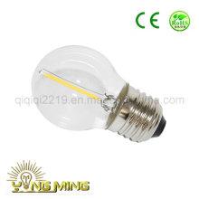 Bulbo claro do filamento do diodo emissor de luz da luz do trabalho da loja do dim E27 de 1W G45