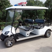 Factory best selling for Electric Police Golf Carts CE Approved, Offroad with Siren golf cart supply to St. Pierre and Miquelon Manufacturers