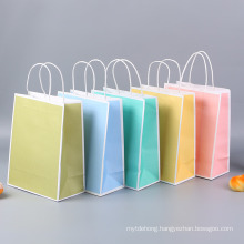 Promotional Gifts Package with Logo Popular Paper Shopping Bag with Handles