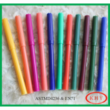 Water Color Pen with slim pen body with 12 Pieces