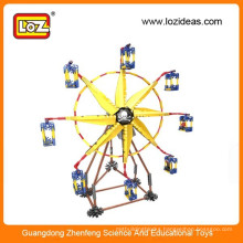 Diy diy ferris wheel,loz amusement park brick ferris wheel