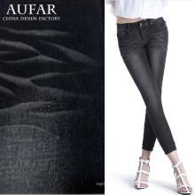 Grande venda de tecido jeans de algodão para roupas femininas