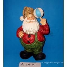 Funny Santa Playing Ball for Christmas Decoration