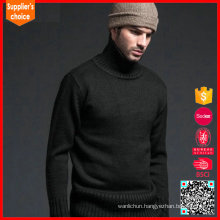 Fashion mens cashmere wool fabric knitwear wholesale cashmere sweater high neck