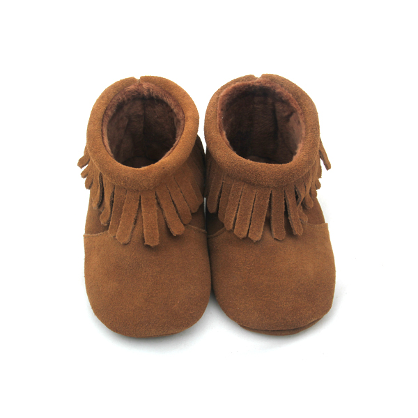 Wholesales Genuine Leather Baby Moccasins Winter Boots