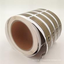 оптовая изготовленный на заказ печатание ярлыка стикера матовый щепка ПЭТ