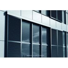Fenêtre extérieure Louvre en aluminium coulissante pour pare-soleil