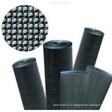 Tissu métallique carré en acier inoxydable / tissu en fil noir