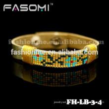 Guangzhou Fashionme hecho a mano trenzada cuero wrap pulsera