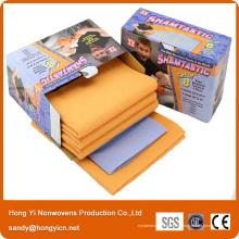Chiffon de nettoyage non-tissé en tissu non-tissé, viscose et polyester