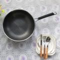 Sartén antiadherente de acero inoxidable para wok, utensilios de cocina de fácil limpieza