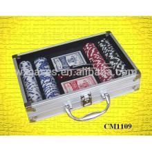 étui en acrylique coin carré 200 aluminium poker carte