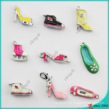 Mixed Styles Metal Enamel 3D Shoes Charm (SPE)