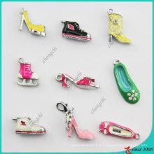 Estilos Misturados Metal Esmalte 3D Sapatos Charme (SPE)