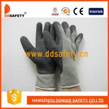 Foam Latex Coating Cotton Gloves, Crinkler Finished (DKL418)
