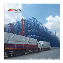 Automatic Storage Rack Clad Supported Warehouse Building Pallet Storage Racking System