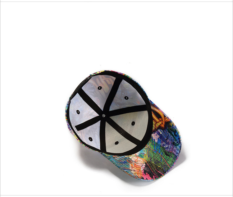 Man skull cap abstract doodle baseball cap (7)