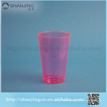 14oz Red transparent eco-friendly PLA PS PET disposable plastic cup